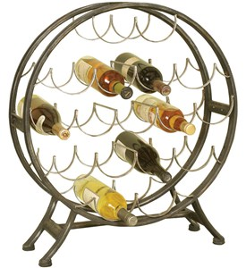 Round Metal Wine Holder Image