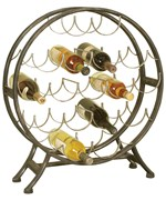 Round Metal Wine Holder