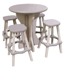 Round Patio Table with Stools Image