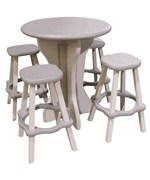 Round Patio Table with Stools
