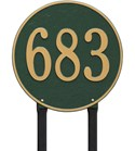 Round Personalized Lawn Address Plaque - Estate