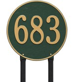 round-personalized-lawn-address-plaque-estate Review