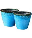 Round Planters - Embossed Scroll