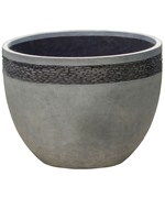 Round Planter - Pebble Embossed Stone