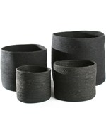 Round Storage Baskets - Black