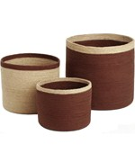 Round Storage Baskets - Brown
