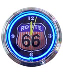 Route 66 Neon Clock by Neonetics