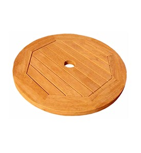 Round Lazy Susan with Umbrella Hole - 20 Inch Image