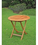 Royal Tahiti 28 Inch Round Folding Table by International Caravan