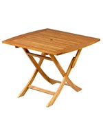 Royal Tahiti 32 Inch Square Wooden Folding Table by International Caravan