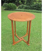 Royal Tahiti 36 Inch Bar Height Round Wood Table by International Caravan
