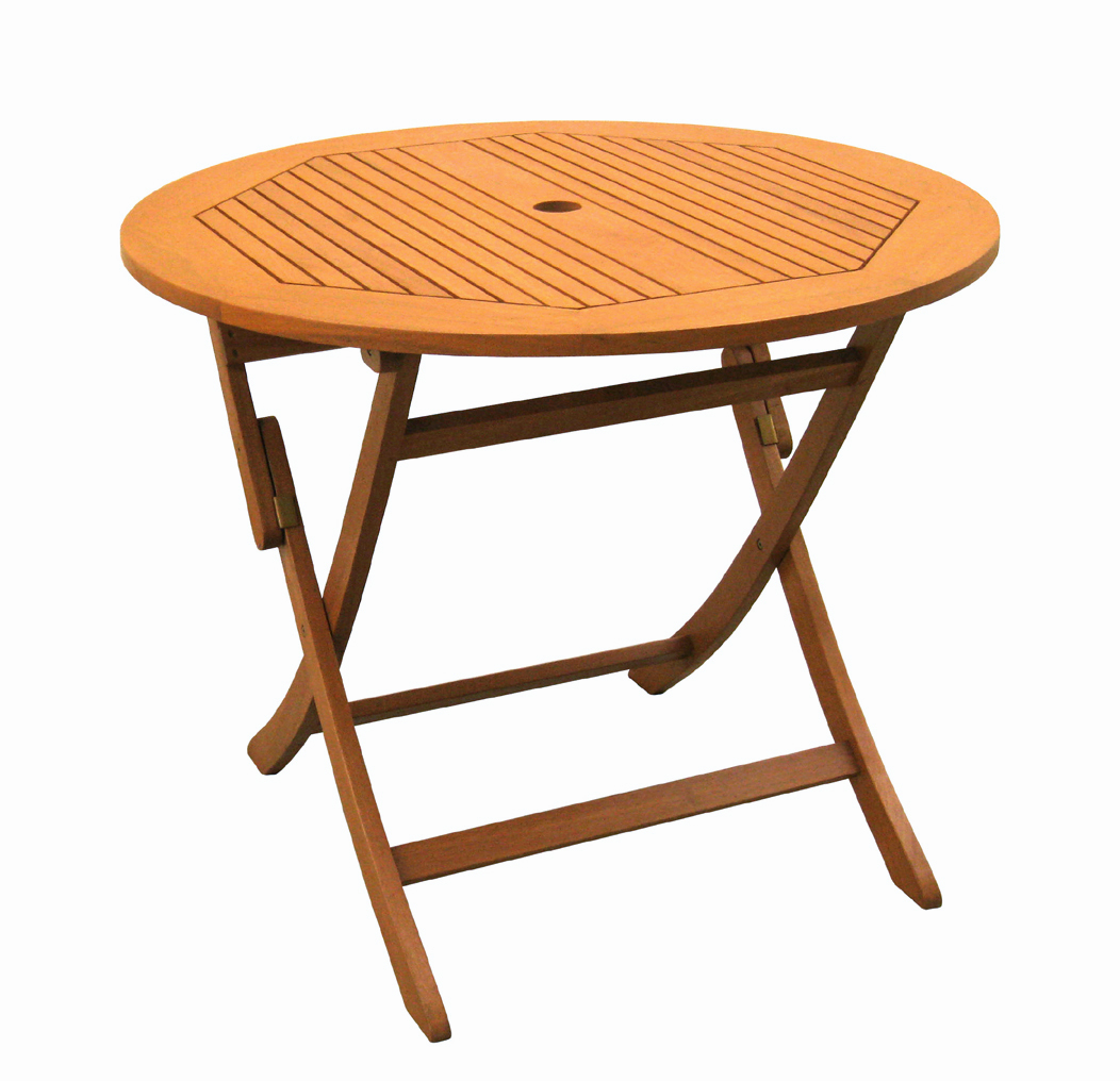 Royal Tahiti 36 Inch Round Folding Table With Curved Legs