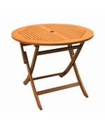 Royal Tahiti 36 Inch Round Folding Table with Curved Legs by International Caravan