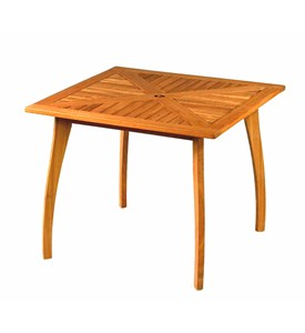 Royal Tahiti 36 Inch Square Table with Curved Legs by International Caravan Image