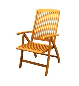 Royal Tahiti 5-Position Folding Wood Arm Chair (Set of 2) Image