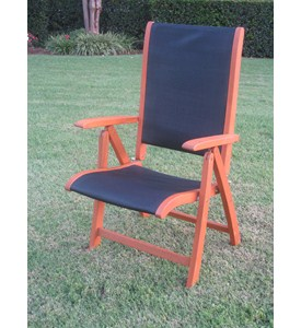 Tahiti 5-Position Outdoor Folding Arm Chair (Set of 2) Image