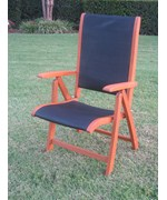 Tahiti 5-Position Outdoor Folding Arm Chair