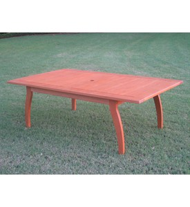 Royal Tahiti Rectangular Coffee Table with Curved Legs by International Caravan Image