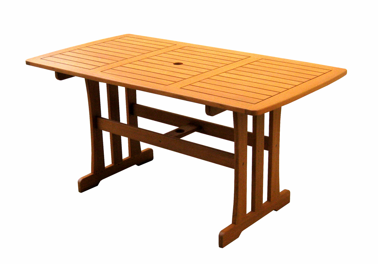 Royal tahiti rectangular dining table by international for Royal dining table