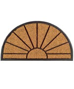 Rubber Back Coir Doormat - Sunshine