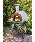 Rustic Wood Fired Oven with Red Brick Front by Rustic Natural Cedar