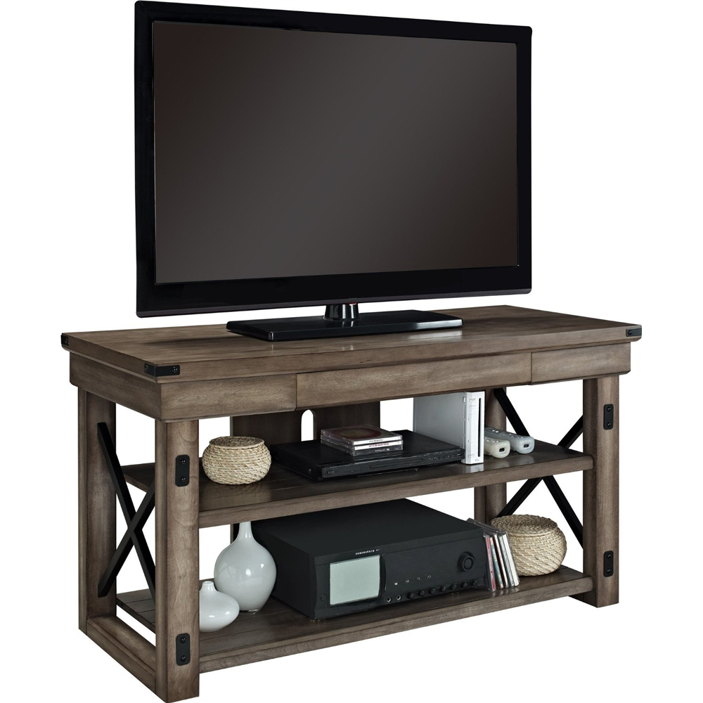 Rustic wood tv stand in stands