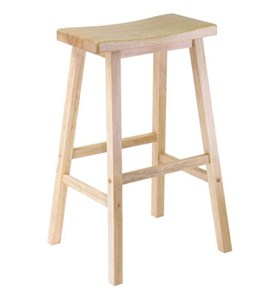 Saddle Bar Stool - Natural Image