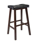 Saddle Bar Stool with Cushioned Seat