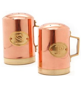 Salt and Pepper Shakers - Copper Image