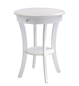 Sasha Accent Round Table with Drawer by Winsome Trading Image