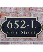 Scallop Address Plaque Personalized by Dekorra