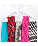 Design Scarf Hanger scarf storage closet hangers for scarves organizer chrome non slip hanger gel grip