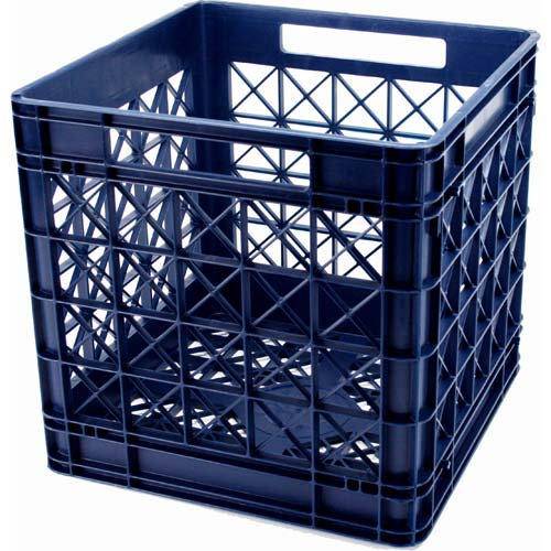 Iris Stackable Plastic Storage Crate Navy Image