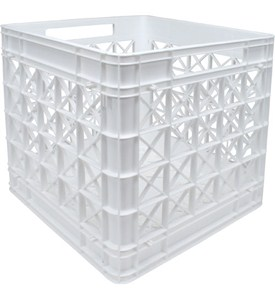 Iris Stackable Plastic Storage Crate - White Image
