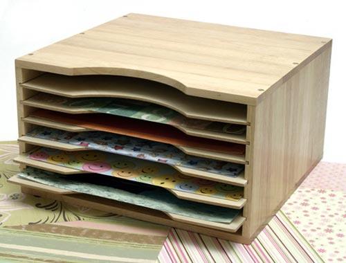 Wood Scrapbook Paper Organizer In Scrapbook Organizers