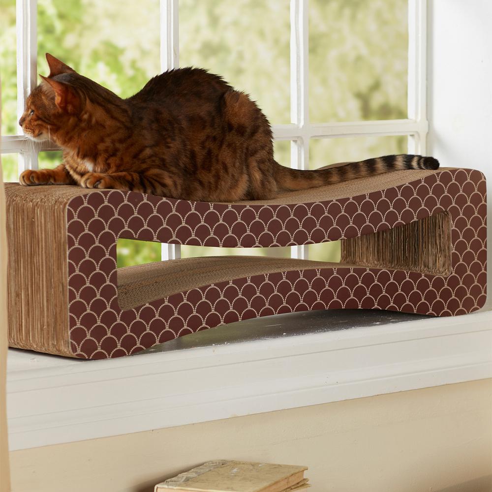 Scratch lounge cat scratcher in pet beds - Cat bed scratcher ...