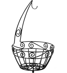 Scroll Fruit Bowl and Banana Holder Image