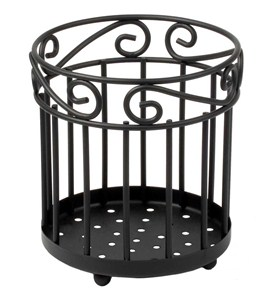 Scroll Utensil Caddy - Black Image