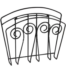 Scroll Wall Mount Magazine Rack Image