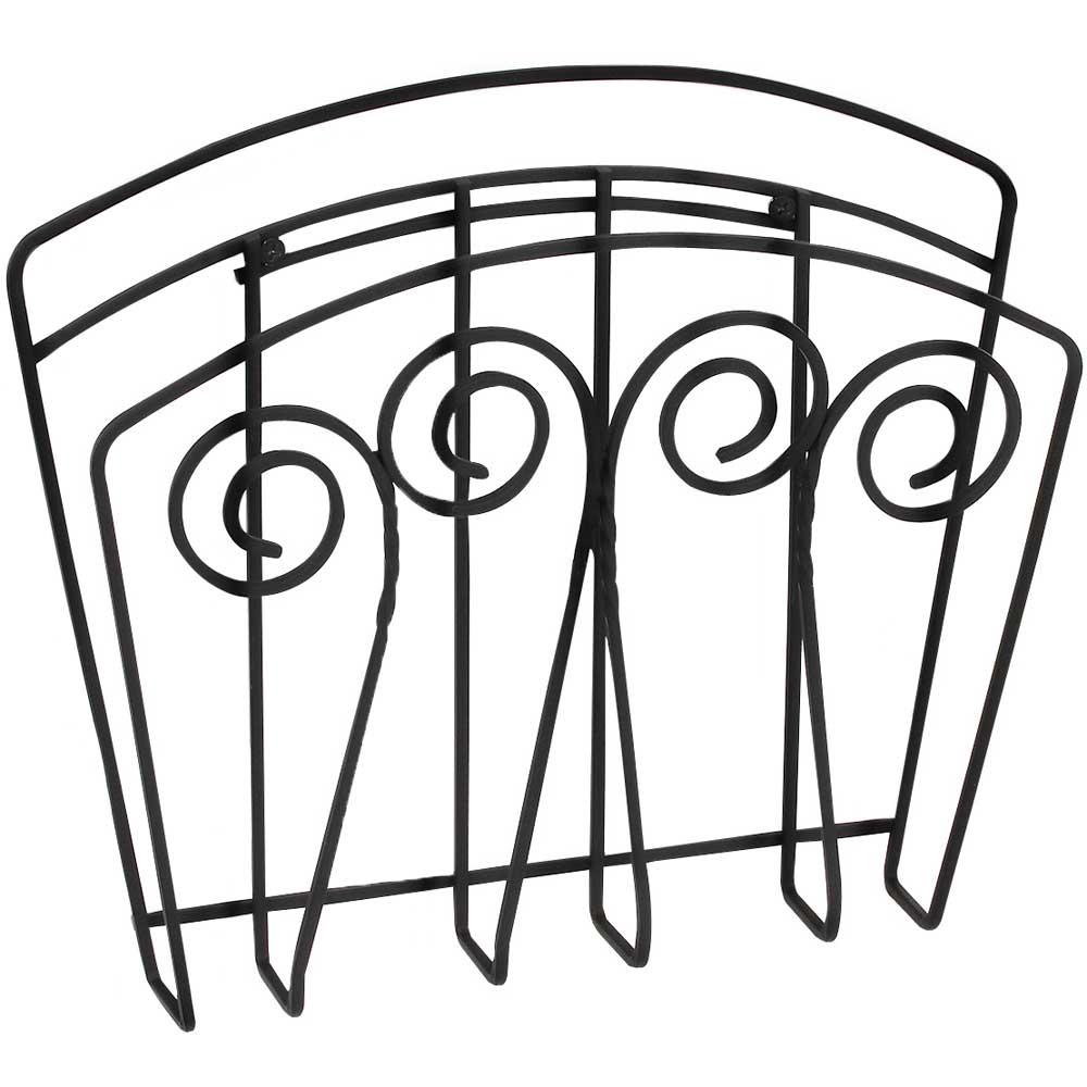 scroll wall mount magazine rack