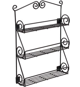 Scroll Wall Mount Spice Rack Image