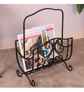 Scroll-Work Magazine Rack by Passport Image