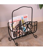 Scroll-Work Magazine Rack by Passport