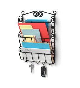 Scroll Mail Organizer and Key Rack Image