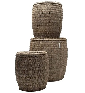 Seagrass Storage Ottomans by Tag - Set of 3 Image
