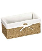 Canvas Lined Seagrass Basket - Small