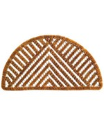 Semi Circle Triangle Coir Welcome Mat by Imports Decor