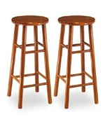 Set of 2 30 Inch Beechwood Bar Stools