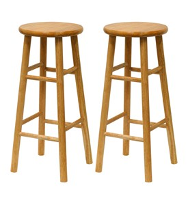 Set of 2 - Bar Stools by Winsome Trading Image