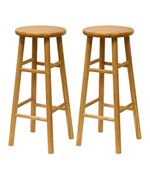 Set of 2 - Bar Stools by Winsome Trading